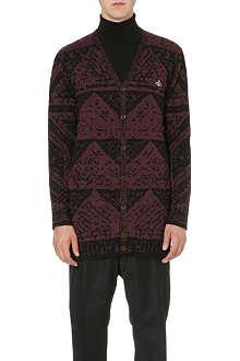VIVIENNE WESTWOOD Mosaic jacquard long cardigan