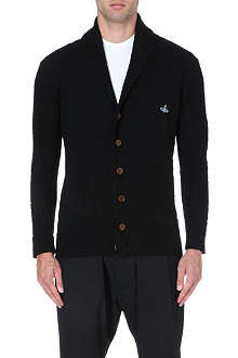 VIVIENNE WESTWOOD Orb-embroidered shawl-lapel cardigan