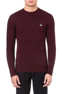 VIVIENNE WESTWOOD Multi-gauge knitted jumper