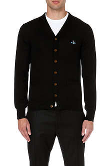 VIVIENNE WESTWOOD Orb-embroidered v-neck cardigan