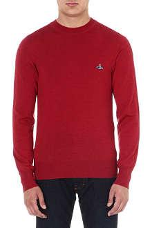 VIVIENNE WESTWOOD Orb crew-neck wool jumper