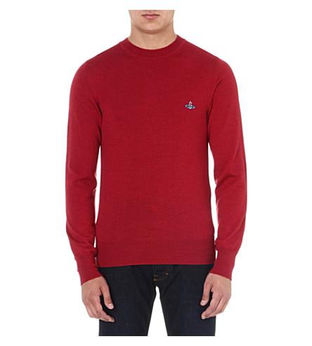 VIVIENNE WESTWOOD Orb crew-neck wool jumper (Red