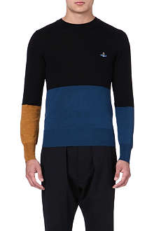 VIVIENNE WESTWOOD Colourblocked knitted jumper