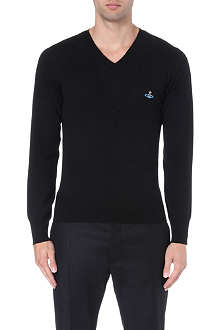 VIVIENNE WESTWOOD Layered double v-neck jumper