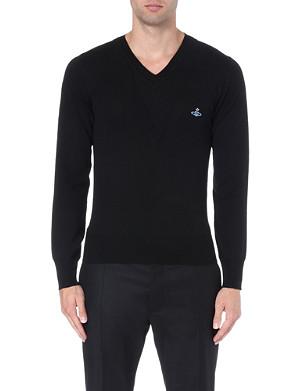VIVIENNE WESTWOOD Layered double v-neck jumper