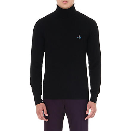 VIVIENNE WESTWOOD Orb roll-neck wool jumper (Black