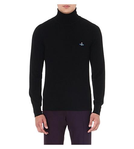 VIVIENNE WESTWOOD Orb roll-neck wool jumper (Black
