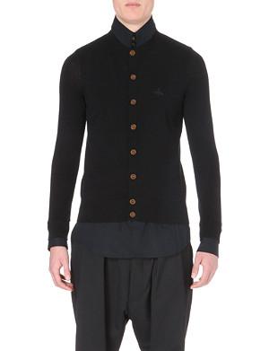 VIVIENNE WESTWOOD Shirt-underlay knitted cardigan