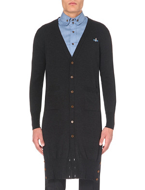 VIVIENNE WESTWOOD Long-length v-neck wool cardigan