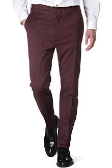 VIVIENNE WESTWOOD Bordeaux slim-fit trousers