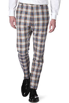 VIVIENNE WESTWOOD Checked slim-fit trousers