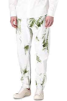 VIVIENNE WESTWOOD Grass-stained carrot samurai trousers