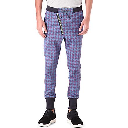 VIVIENNE WESTWOOD Houndstooth skull jogging bottoms (Purple