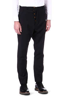 VIVIENNE WESTWOOD Asymmetric drop-crotch twisted trousers