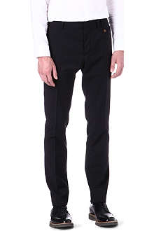 VIVIENNE WESTWOOD Slim-fit straight pocket front trousers