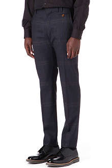 VIVIENNE WESTWOOD Checked slim-fit tapered trousers