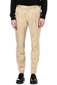 VIVIENNE WESTWOOD Tapered-leg pleated chinos