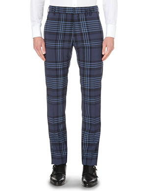 VIVIENNE WESTWOOD Checked tailored-fit tapered trousers