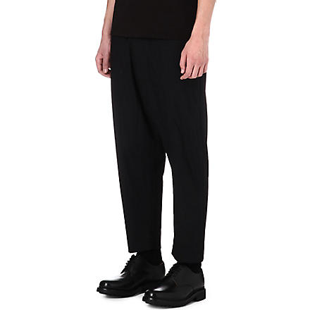VIVIENNE WESTWOOD Drop crotch wool trousers (Black