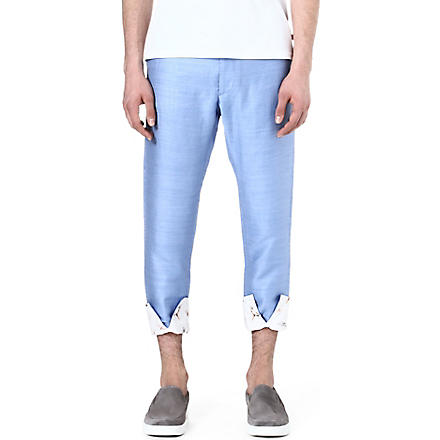 VIVIENNE WESTWOOD Turn-up slim trousers (Blue