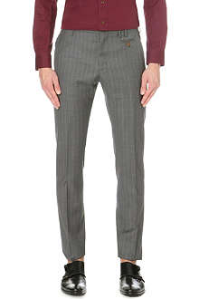 VIVIENNE WESTWOOD Pinstripe slim-fit wool trousers