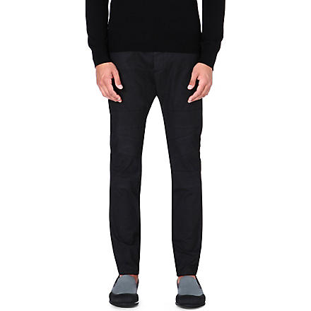 VIVIENNE WESTWOOD Cotton-blend tapered trousers (Black
