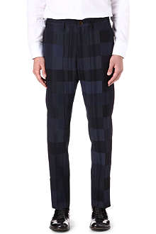 VIVIENNE WESTWOOD Check panel slim-trousers