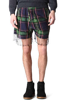 VIVIENNE WESTWOOD Scarf checked shorts