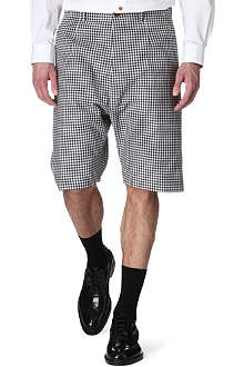 VIVIENNE WESTWOOD Gingham-check shorts