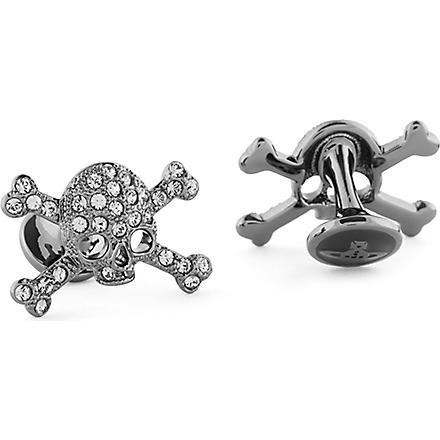 VIVIENNE WESTWOOD Diamante skull cufflinks (Black/gunmetal