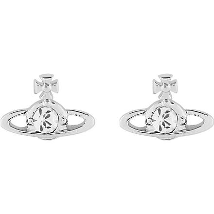 VIVIENNE WESTWOOD Nano solitaire earrings (Crystal/rhodium