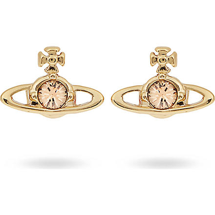 VIVIENNE WESTWOOD Nano Solitaire earrings (Light topaz/yellow gold