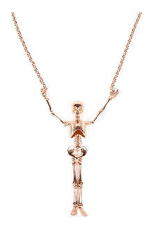 VIVIENNE WESTWOOD Large skeleton pendant necklace
