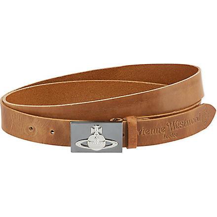 VIVIENNE WESTWOOD Orb buckle belt (Brown