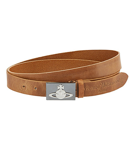 VIVIENNE WESTWOOD Orb buckle belt (Brown