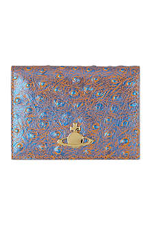 VIVIENNE WESTWOOD Cote d'Azur ostrich leather card holder