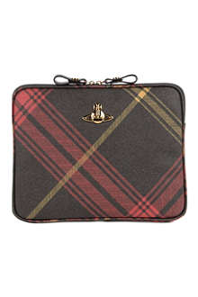 VIVIENNE WESTWOOD Derby tartan check iPad case