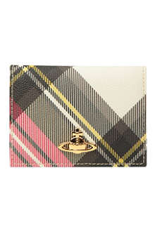 VIVIENNE WESTWOOD Derby checked card holder
