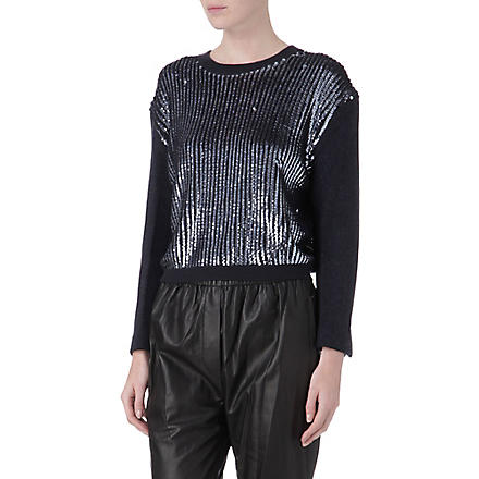 3.1 PHILLIP LIM Sequin-panel jumper (Charcoal