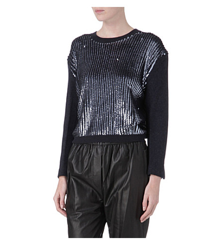 3.1 PHILLIP LIM Sequin-panel jumper (Charcoal