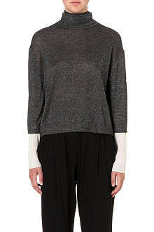 3.1 PHILLIP LIM Lurex turtleneck jumper
