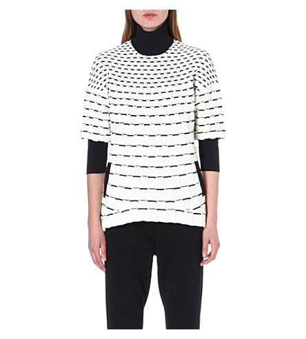 3.1 PHILLIP LIM Contrast knitted jumper (White/midnight