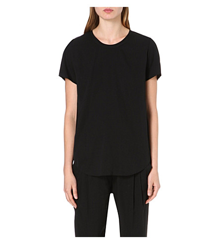 3.1 PHILLIP LIM Silk-blend t-shirt (Black