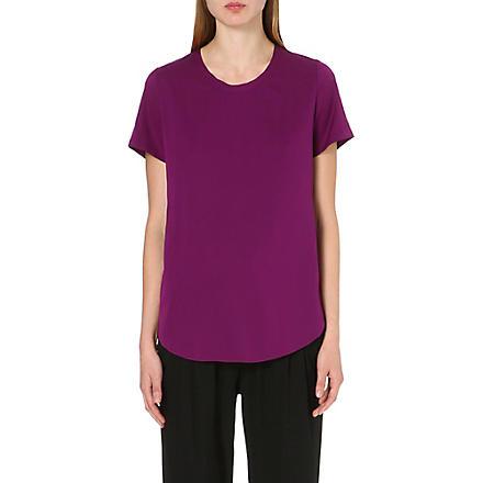 3.1 PHILLIP LIM Silk-blend t-shirt (Orchid