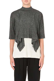 3.1 PHILLIP LIM Draped-front silk-blend top