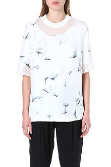 3.1 PHILLIP LIM Oversized silk-chiffon top