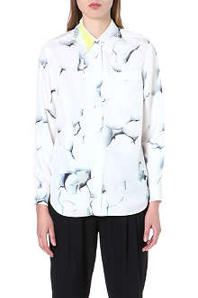 3.1 PHILLIP LIM Embellished-collar silk shirt