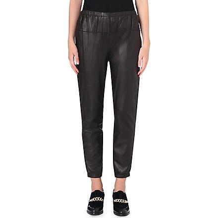 3.1 PHILLIP LIM Leather trousers (Black