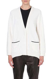 3.1 PHILLIP LIM Oversized contrast-trim cardigan