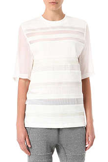 3.1 PHILLIP LIM Semi-sheer embroidered t-shirt
